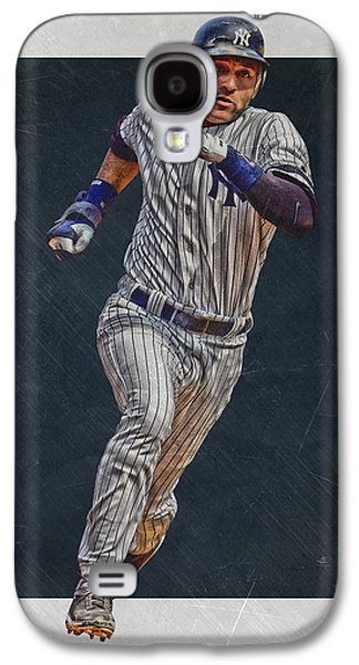 Derek Jeter New York Yankees Art 3 Galaxy S4 Case by Joe Hamilton