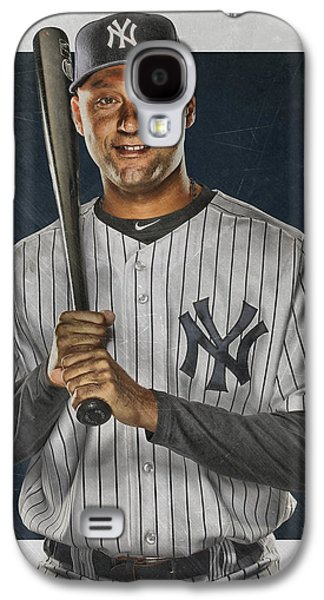 Derek Jeter New York Yankees Art Galaxy S4 Case by Joe Hamilton