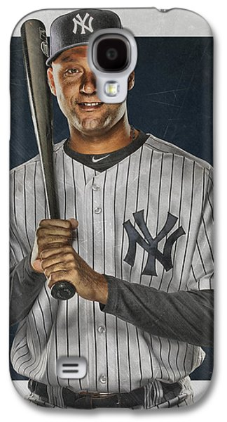 Derek Jeter New York Yankees Art Galaxy S4 Case