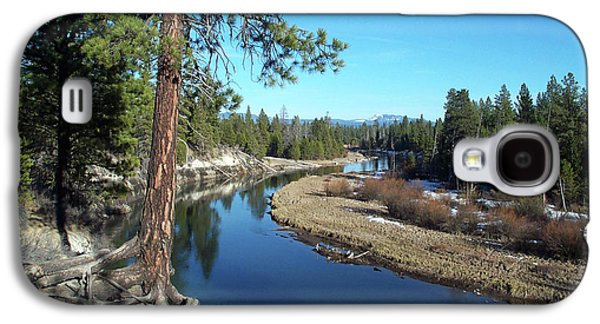 Tree Roots Photographs Galaxy S4 Cases - Deschutes River Galaxy S4 Case by Bonnie Bruno