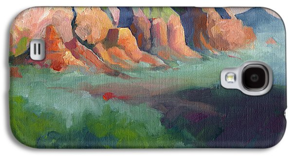 Desert Afternoon Mountains Sky And Trees Galaxy S4 Case