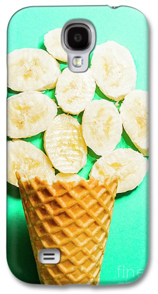 Desert Concept Of Ice-cream Cone And Banana Slices Galaxy S4 Case by Jorgo Photography - Wall Art Gallery