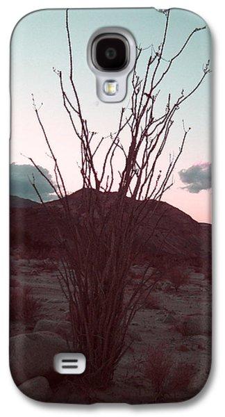 Desert Plant And Sunset Galaxy S4 Case by Naxart Studio