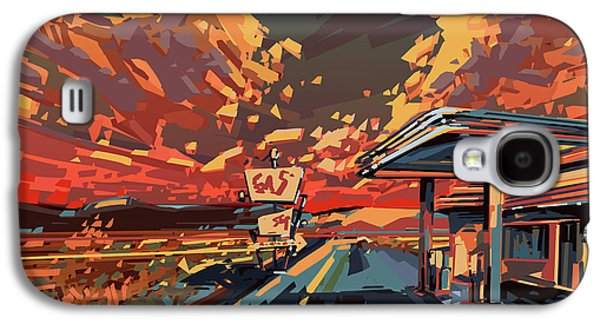 Desert Road Landscape 2 Galaxy S4 Case