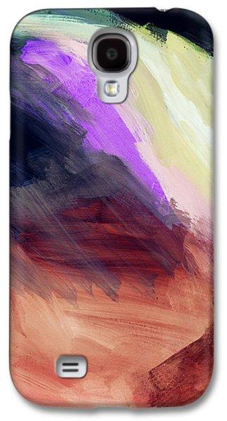 Desert Sunset Galaxy S4 Case - Desert Sunset 2- Abstract Art By Linda Woods by Linda Woods