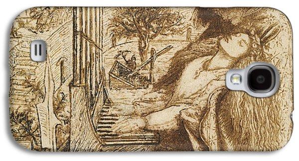 Design For Moxon's Tennyson - Saint Cecilia Galaxy S4 Case by Dante Gabriel Rossetti