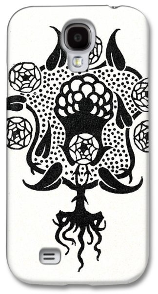 Design For The Front Cover Of Salome Galaxy S4 Case by Aubrey Beardsley