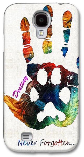 Custom Dog Memorial Rainbow Bridge Paw Print By Sharon Cummings Galaxy S4 Case