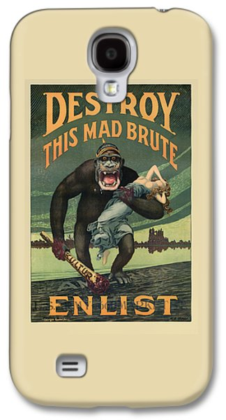 Gorilla Galaxy S4 Case - Destroy This Mad Brute - Wwi Army Recruiting  by War Is Hell Store