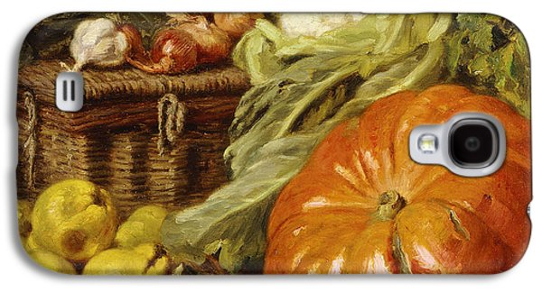 Detail Of A Still Life With A Basket, Pears, Onions, Cauliflowers, Cabbages, Garlic And A Pumpkin Galaxy S4 Case by Eugene Claude