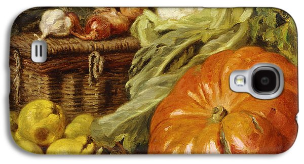 Detail Of A Still Life With A Basket, Pears, Onions, Cauliflowers, Cabbages, Garlic And A Pumpkin Galaxy S4 Case