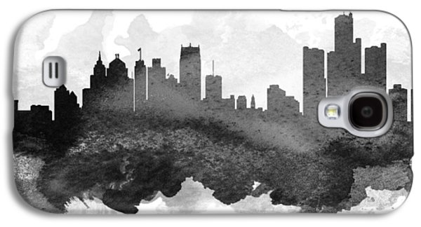 Detroit Digital Galaxy S4 Cases - Detroit Cityscape 11 Galaxy S4 Case by Aged Pixel