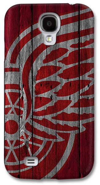 Detroit Red Wings Wood Fence Galaxy S4 Case