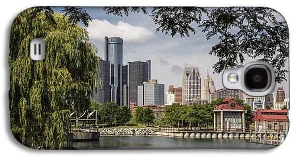 Detroit Skylin And Marina  Galaxy S4 Case by John McGraw