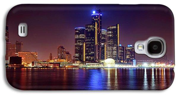 Detroit Skyline 4 Galaxy S4 Case by Gordon Dean II