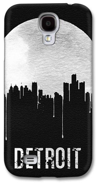 Detroit Skyline Black Galaxy S4 Case by Naxart Studio