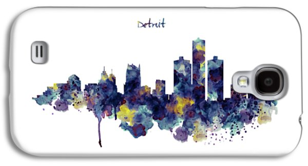 Detroit Skyline Silhouette Galaxy S4 Case