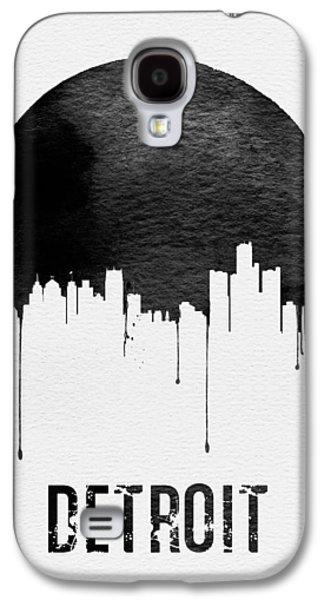 Detroit Skyline White Galaxy S4 Case by Naxart Studio