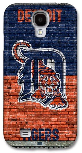 Detroit Tigers Brick Wall Galaxy S4 Case by Joe Hamilton