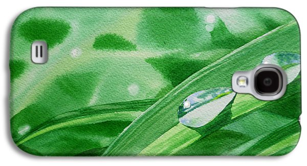 Affirmation Galaxy S4 Cases - Dew Drops Galaxy S4 Case by Irina Sztukowski