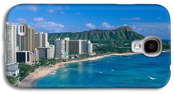 Printscapes - Galaxy S4 Cases - Diamond Head And Waikiki Galaxy S4 Case by William Waterfall - Printscapes