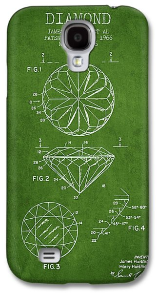Diamond Patent From 1966- Green Galaxy S4 Case by Aged Pixel
