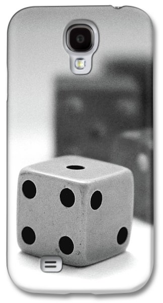 Dice 1- Black And White Photo By Linda Woods Galaxy S4 Case by Linda Woods