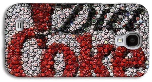 Pop Mixed Media Galaxy S4 Cases - Diet Coke Bottle Cap Mosaic Galaxy S4 Case by Paul Van Scott