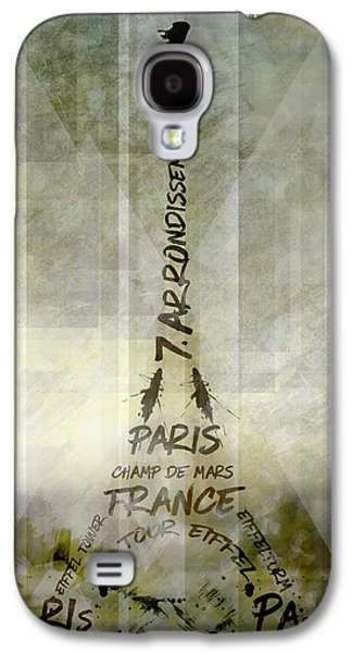 Digital-art Paris Eiffel Tower Geometric Mix No.1 Galaxy S4 Case by Melanie Viola