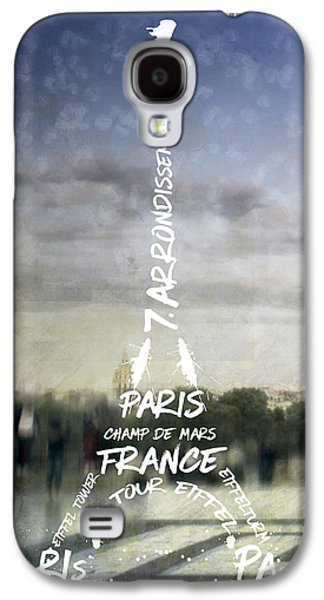 Digital-art Paris Eiffel Tower No.4 Galaxy S4 Case by Melanie Viola