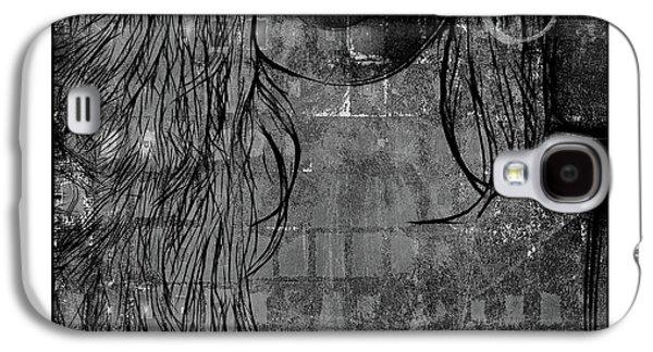 Digital Girl Bw Galaxy S4 Case by Steve K
