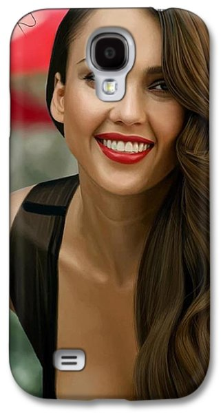 Digital Painting Of Jessica Alba Galaxy S4 Case