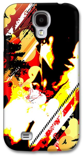 Best Sellers -  - Abstract Digital Mixed Media Galaxy S4 Cases - Dim Sunrise Galaxy S4 Case by Chris Andruskiewicz