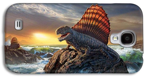 Dinosaur Galaxy S4 Case - Dimetrodon by Jerry LoFaro