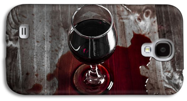 Diner Table Accident. Spilled Red Wine Glass Galaxy S4 Case by Jorgo Photography - Wall Art Gallery