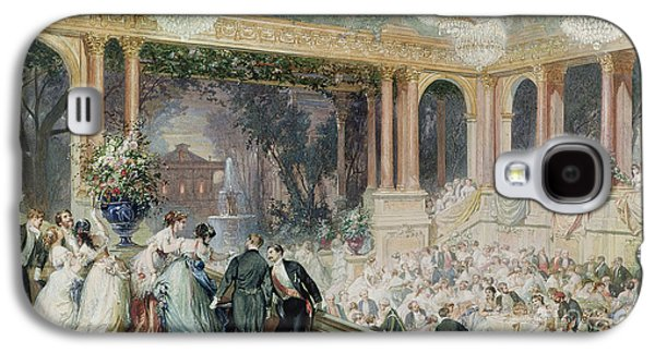 Dinner At The Tuileries Galaxy S4 Case by Henri Baron