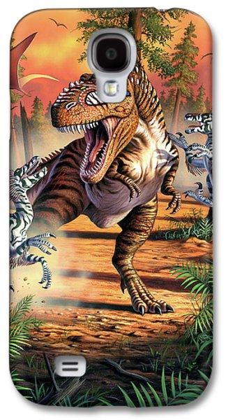 Dinosaur Galaxy S4 Case - Dino Battle by Jerry LoFaro