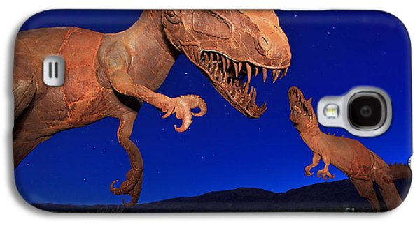 Dinosaur Battle In Jurassic Park Galaxy S4 Case by Sam Antonio Photography