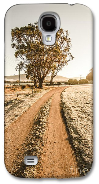 Dirt Frosted Country Road In Winter Galaxy S4 Case