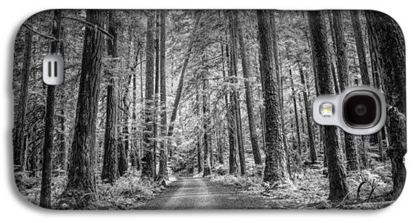 Dirt Road Through A Rain Forest In Black And White Galaxy S4 Case by Randall Nyhof