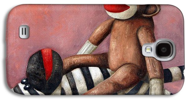 Gorilla Galaxy S4 Case - Dirty Socks 3 Playing Dirty by Leah Saulnier The Painting Maniac