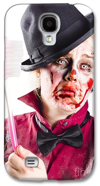 Diseased Woman With Big Toothbrush Galaxy S4 Case by Jorgo Photography - Wall Art Gallery