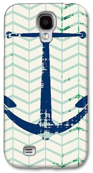 Distressed Navy Anchor V2 Galaxy S4 Case by Brandi Fitzgerald