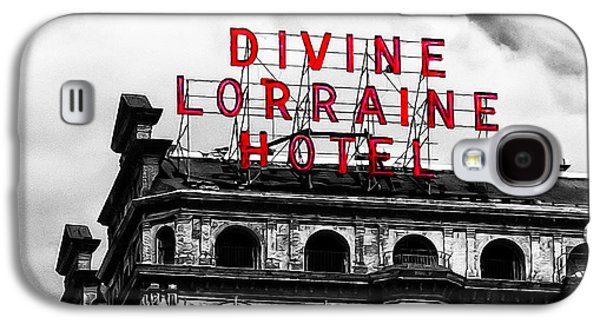 Phillies Digital Galaxy S4 Cases - Divine Lorraine Hotel Marquee Galaxy S4 Case by Bill Cannon