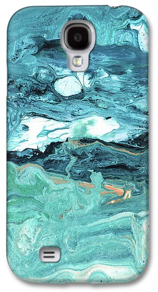 Diving In- Abstract Art By Linda Woods Galaxy S4 Case