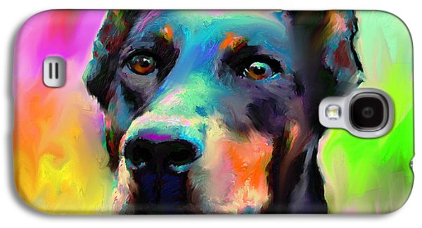 Doberman Pincher Dog Portrait Galaxy S4 Case by Svetlana Novikova