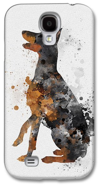 Doberman Pinscher Galaxy S4 Case by Rebecca Jenkins