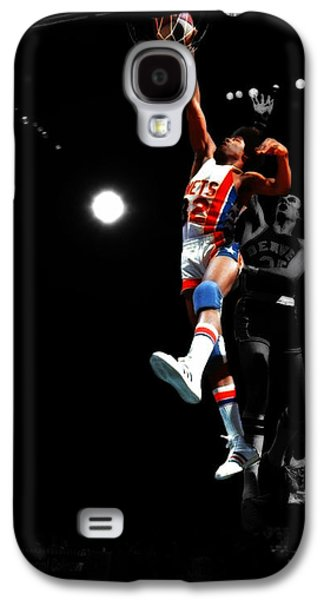 Magic Johnson Galaxy S4 Case - Doctor J Over The Top by Brian Reaves