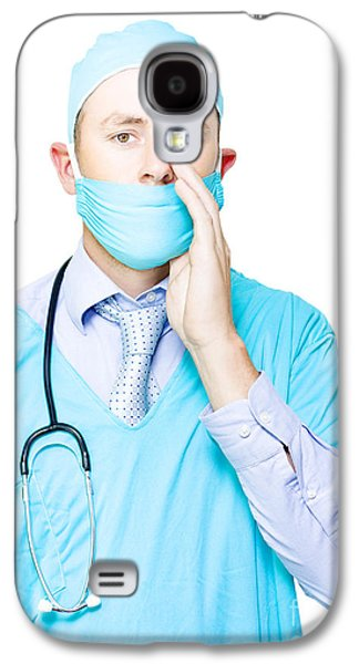 Doctor Making A Health Announcement Galaxy S4 Case by Jorgo Photography - Wall Art Gallery