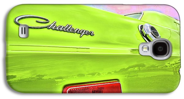 Dodge Challenger In Sublime Green Galaxy S4 Case by Gordon Dean II